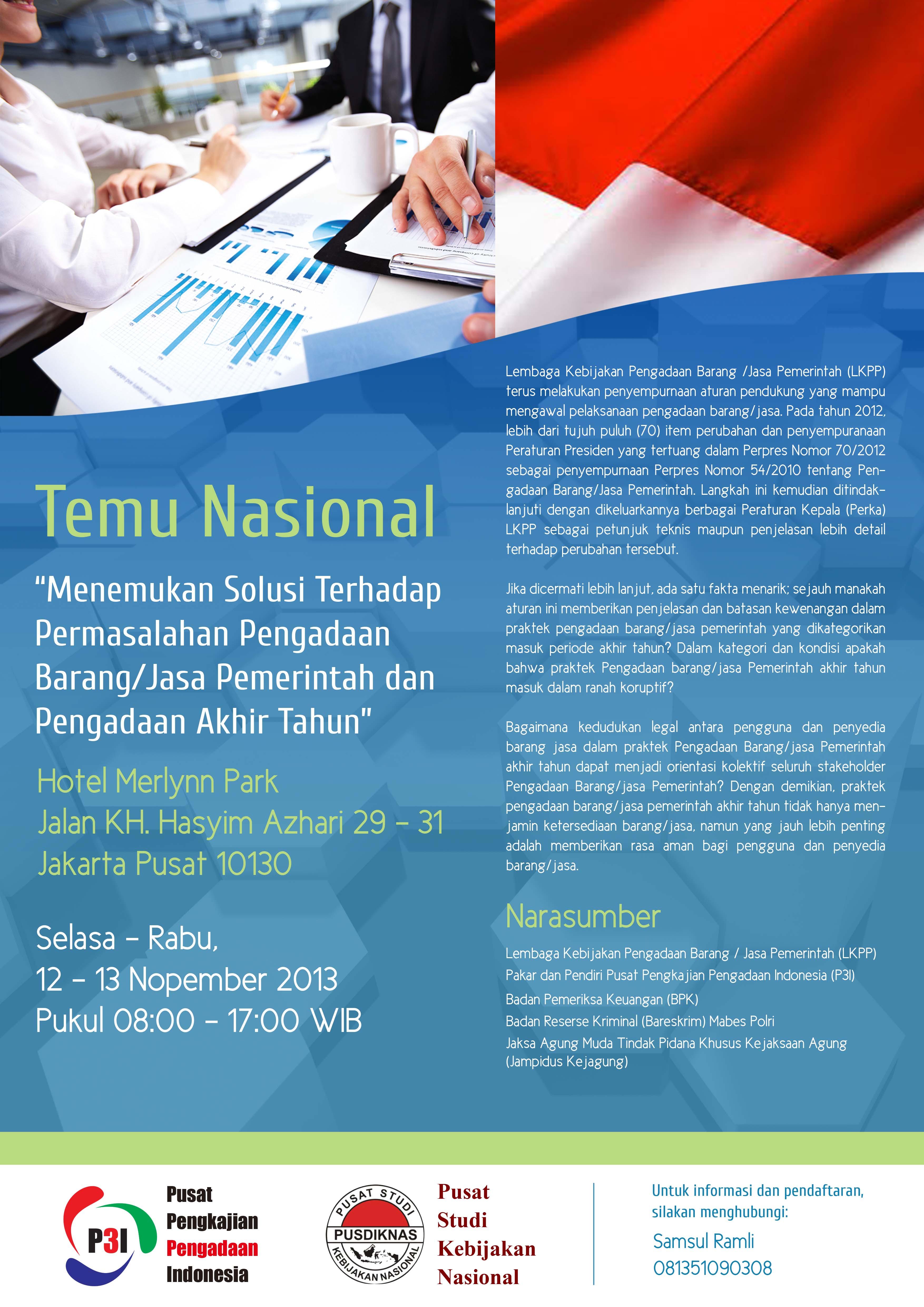 Temu Nasional Pengadaan Barang/Jasa Pemerintah di Jakarta
