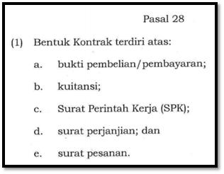 Bukti Kontrak Dan Bukti Perjanjian Catatan Pengadaan